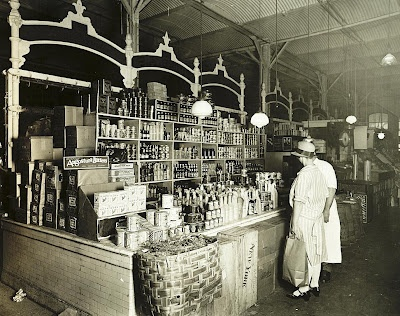 Shopping for groceries - 1920's