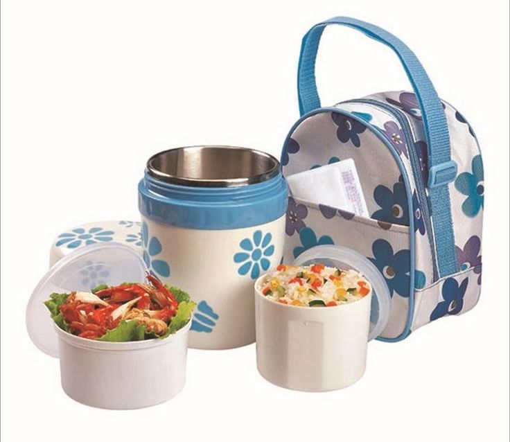 Flower Style Vacuum Bento Box Office Thermos Thermal Lunch Box+2 Containers+Bagu2026  sc 1 st  Pinterest & Best 25+ Thermal lunch box ideas on Pinterest | Stainless steel ... Aboutintivar.Com