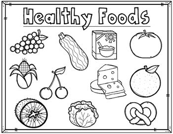 Healthy Foods/Comida Saludable coloring sheets are great