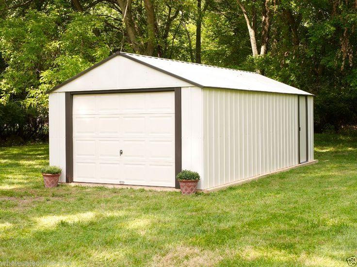 Arrow Sheds Vinyl Garage Murryhill 12x17 Heavy Duty Storage Building Kit VT1217 #Arrow #StorageShedMetalGarageOutdoorStorage