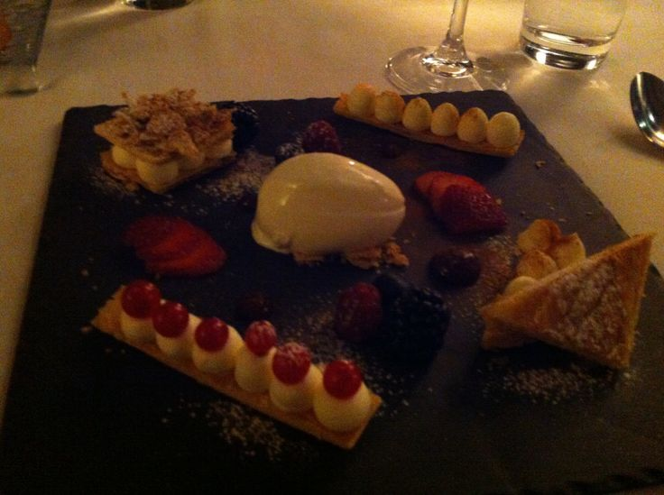 Yummy dessert at the Electra Hotel with Dina Nikolaou.