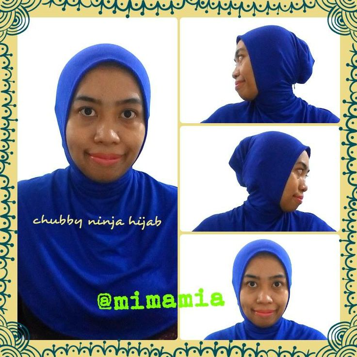 Try our latest Ninja hijab, we design new patroon that fit to all faces .. It doesnt matter how chubby, square, round, oval your face as long as  wearing mimAmia hijab.. Everyone look beautiful