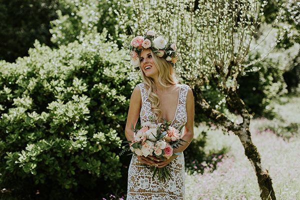 Photo by Intimate Love Memories - Organised and designed by Belli Momenti Weddings - Flowers by Leonidas Rammos - Wedding dress by Marianna Kastrinos - Hair sylist: Elena Mamalou - Make-up artist: Nassos Grammenos