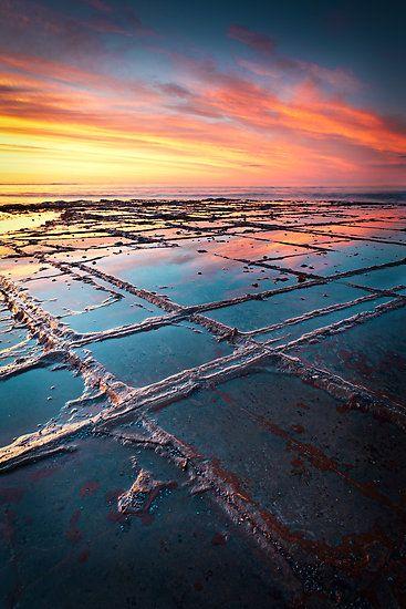 Tessellated Pavement, Eaglehawk Neck, Tasmania, Australia by Matthew Stewart. High tide
