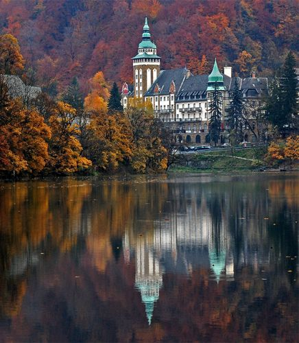 Lillafured, Hungary - The Palace Hotel is is surrounded by a large park with rare plants