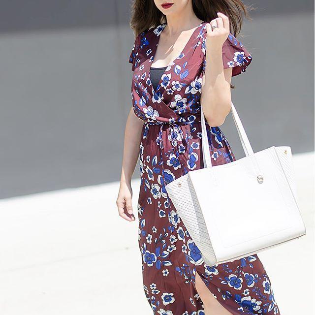 Snake print floral maxi dress