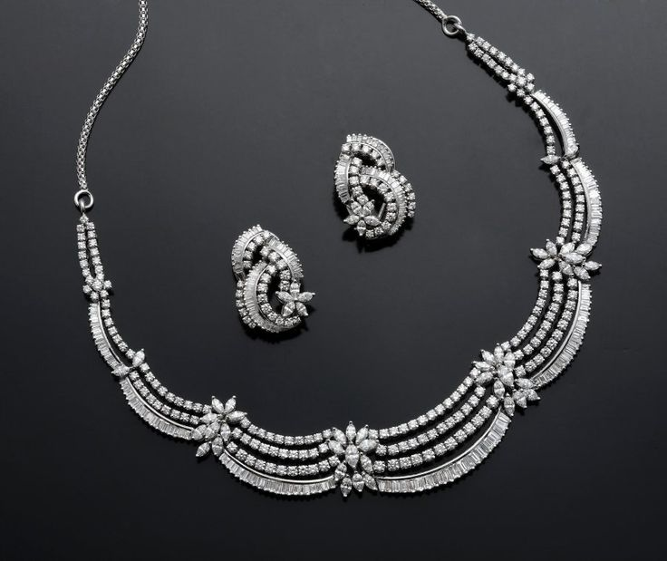 Indian Gold Jewellery Necklace Sets Google Search: Marquise Diamond Necklace Designs