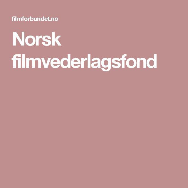 Norsk filmvederlagsfond