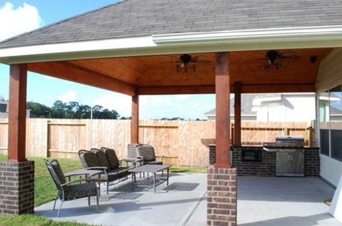 Patio Cover With Attractive Wood Ceiling Tongue And Groove