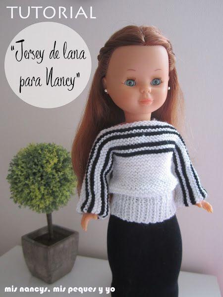 mis nancys, mis peques y yo, tutorial jersey de lana para Nancy (patrón gratis)