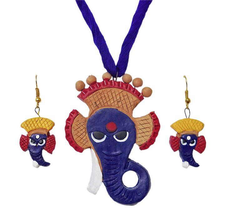 Terracotta Ganesha Pendant