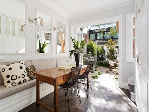 another great design for a long, narrow space (or even a short, narrow space)