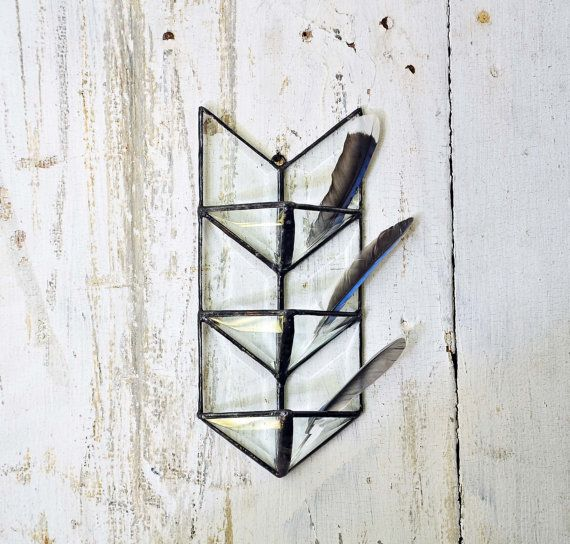 Stained Glass Arrow. Air Plant Holder. by HouseThatCrowBuilt