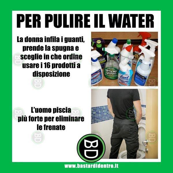 uomini e donne, pulizie, water, pipi, prodotti