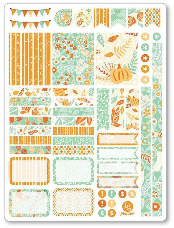 Hola otoño decoración Kit / extensión semanal por PlannerPenny