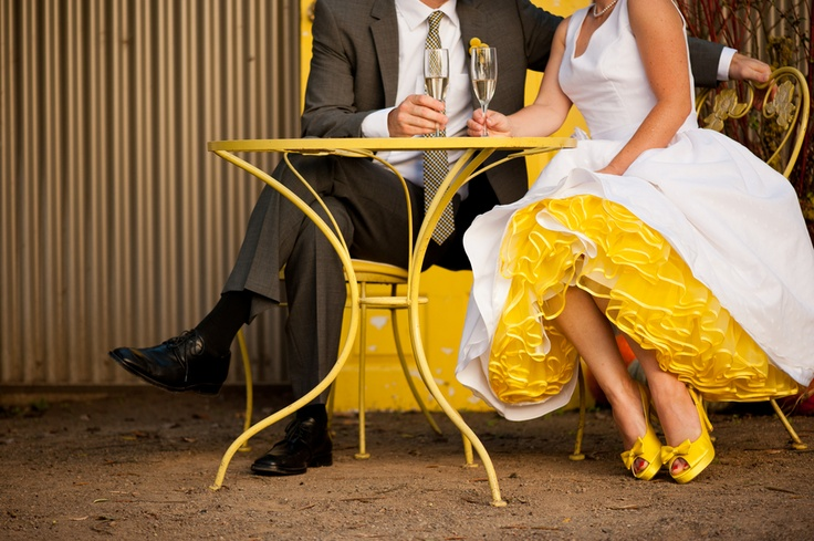 Yellow colored tulle under wedding dress to match for Tulle skirt under wedding dress
