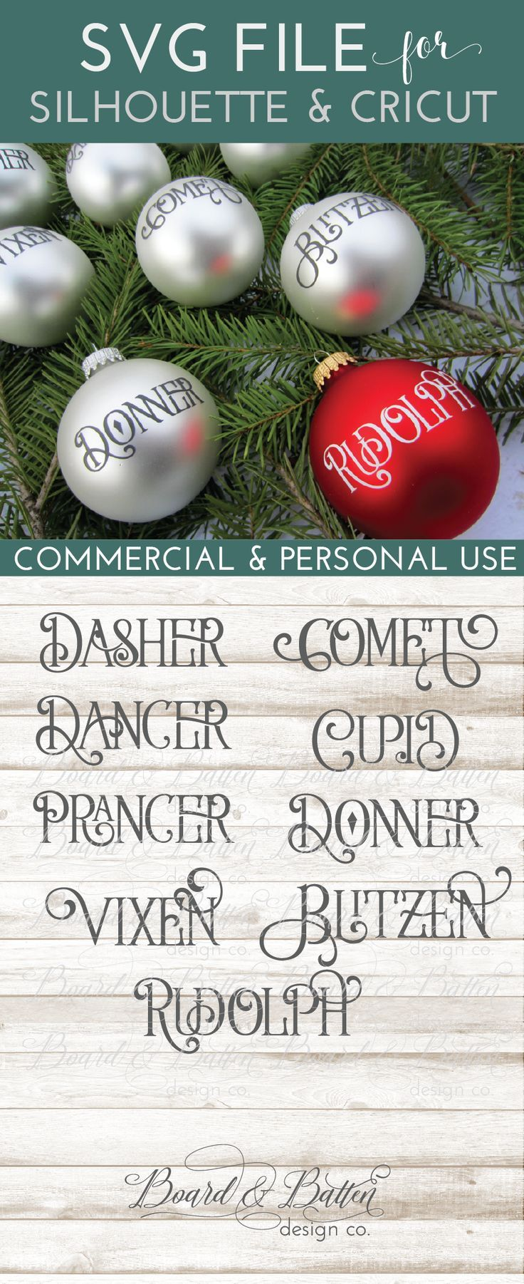 Who Doesn T Need A Set Of Reindeer Name Svg Files Grab This Set Today Of Cute Vintage Style Reindeer Names Vintage Reindeer Cricut Ornaments Christmas Crafts