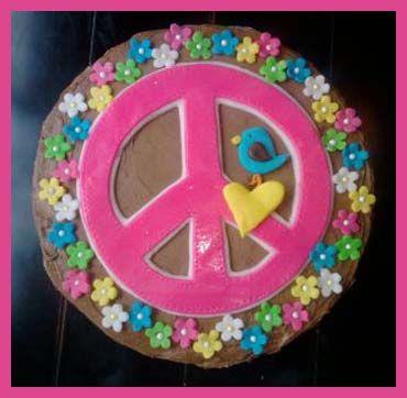 Hippy Cake Ideas For Th Birthday For Girl