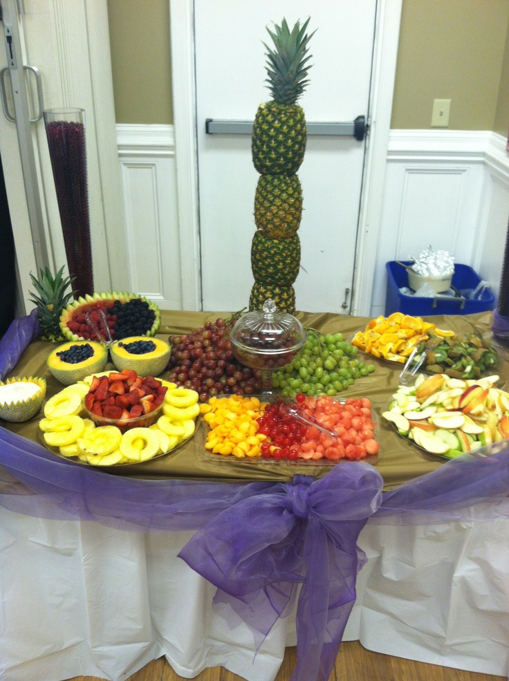 Fruit Table Decor With Pineapple Centerpiece Desserts