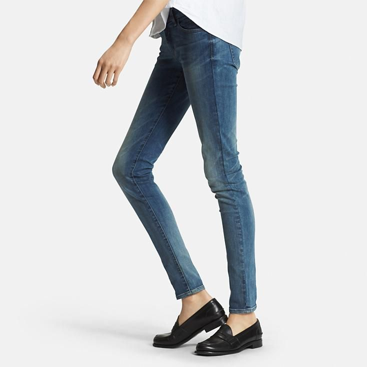 women ultra stretch jeans in 65 blue | UNIQLO