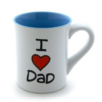 Father's Day Gift: Our Name Is Mud by Lorrie Veasey I Heart Dad 16-Ounce Mug, 4-1/2-Inch