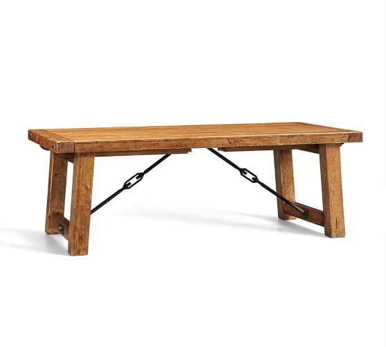 Benchwright Extending Dining Table, 86 X 42