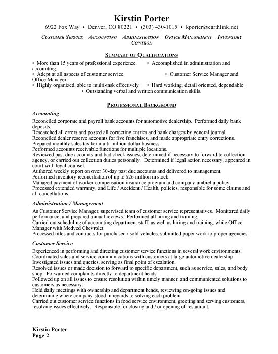 7 best resume images on Pinterest Resume, Resume examples and - sample resume for administrative manager