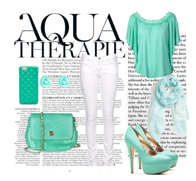 Aqua therapy2 by stelamahomie on Polyvore featuring Citizen of Humanity, Rowallan, FOSSIL, Monsoon, Hinge and Anja