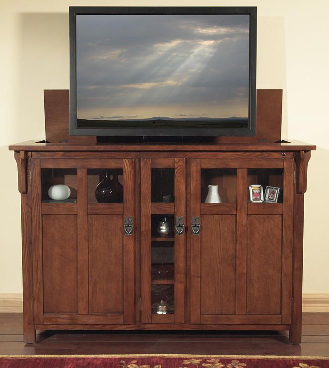 45 best living room images on pinterest flat screen tvs for Motorized tv lift cabinets