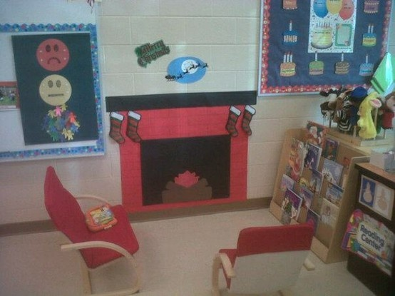 Reading By The Fire In The Library During Our Winter Theme