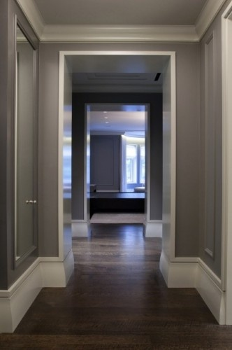 Benjamin Moore Chelsea gray for my bedroom walls. And... that's the color of hardwoods I want.