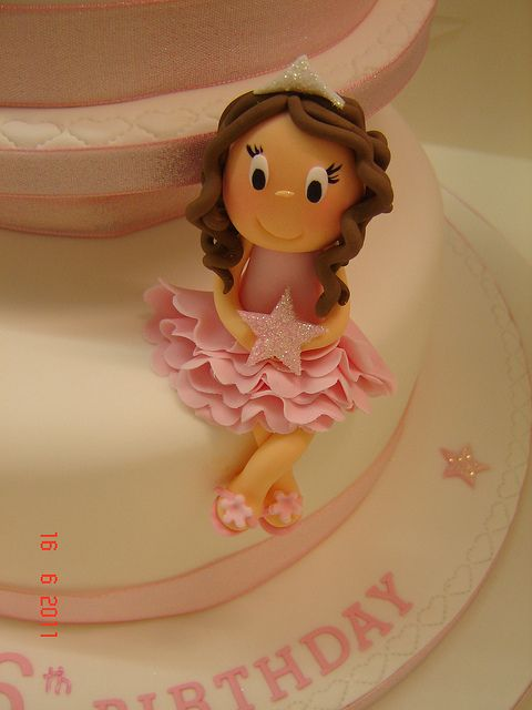 Princess cake topper by Helen Brinksman, via Flickr