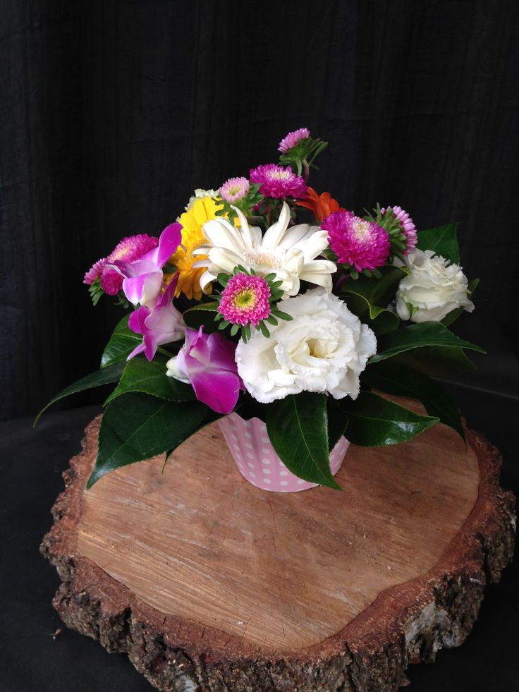 cupcake flower display for the perfect birthday flowers or any occasion. Order online. Adelaide deliveries