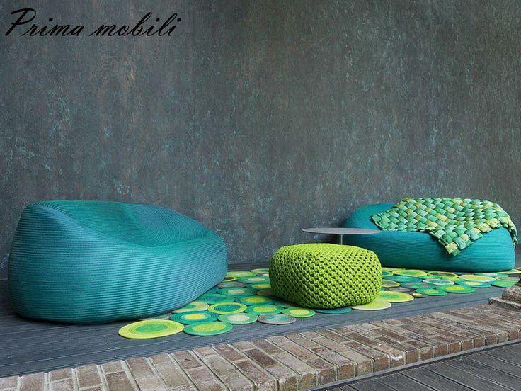 Итальянский садовый диван Otto Paola Lenti купить в Москве в Prima mobili