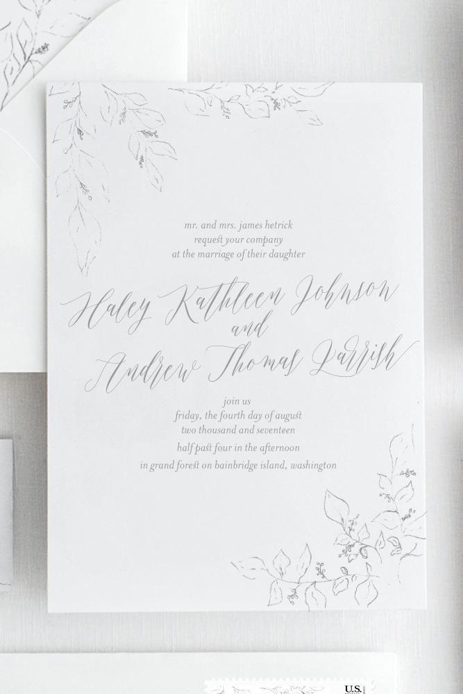 Haley Invitations