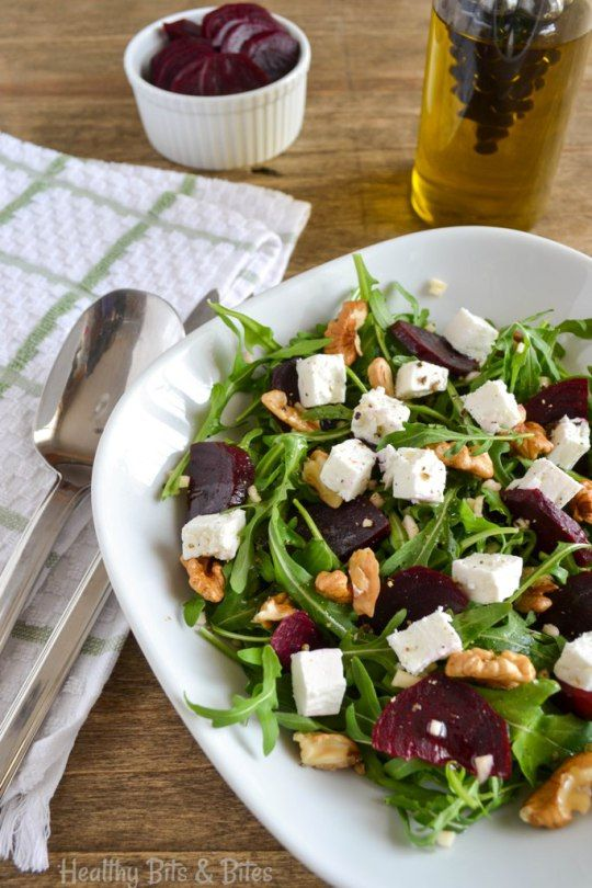 Arugula salad with beets and feta cheese | Healthy Bits and Bites
