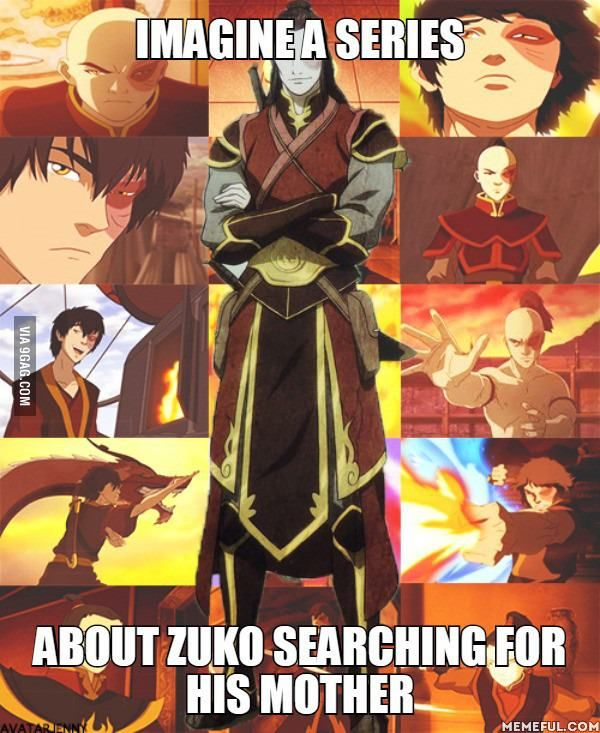 "Screw the legend of Korra this could be so much better.....(btw they made a comic of this called ""The Search"" I found something that showed the whole thing on youtube IF you wanna sit for 3 hours straight...ITS AWESOME!!!)"