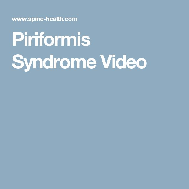 Piriformis Syndrome Video