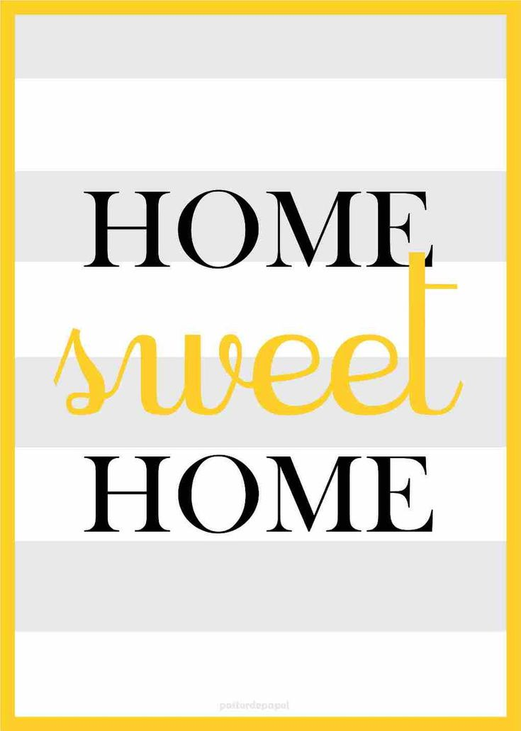 Home Sweet Home | Poster de Papel | Elo7