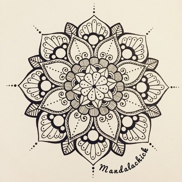 mandalas and doodles @mandalachick Instagram photo • Yooying