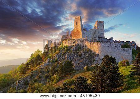 Erzsebet Báthory's Cachtice Castle