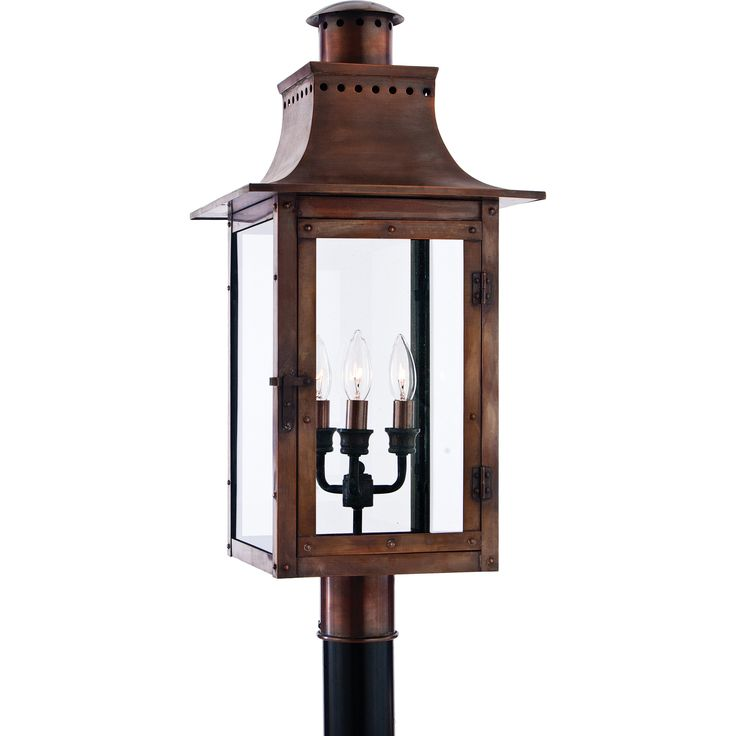 71 best outdoor postcolumn lamps images on pinterest exterior from the charleston copper lantern collection this piece gives you the historic look of gas lighting but without the hassle of a propane feed workwithnaturefo