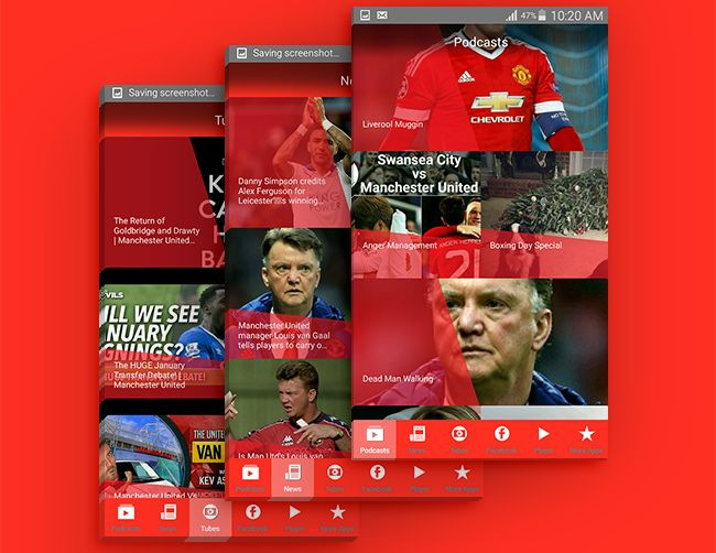 https://play.google.com/store/apps/details?id=com.playbackmedia.redcast   Your favourite Manchester United podcast has an Android app too! Hear the latest podcasts, get access to the archives, exclusive extra content as well as up to date news from The Guardian, Telegraph, Twitter and the BBC.
