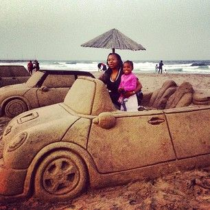 Sand art on North Beach | Durban.
