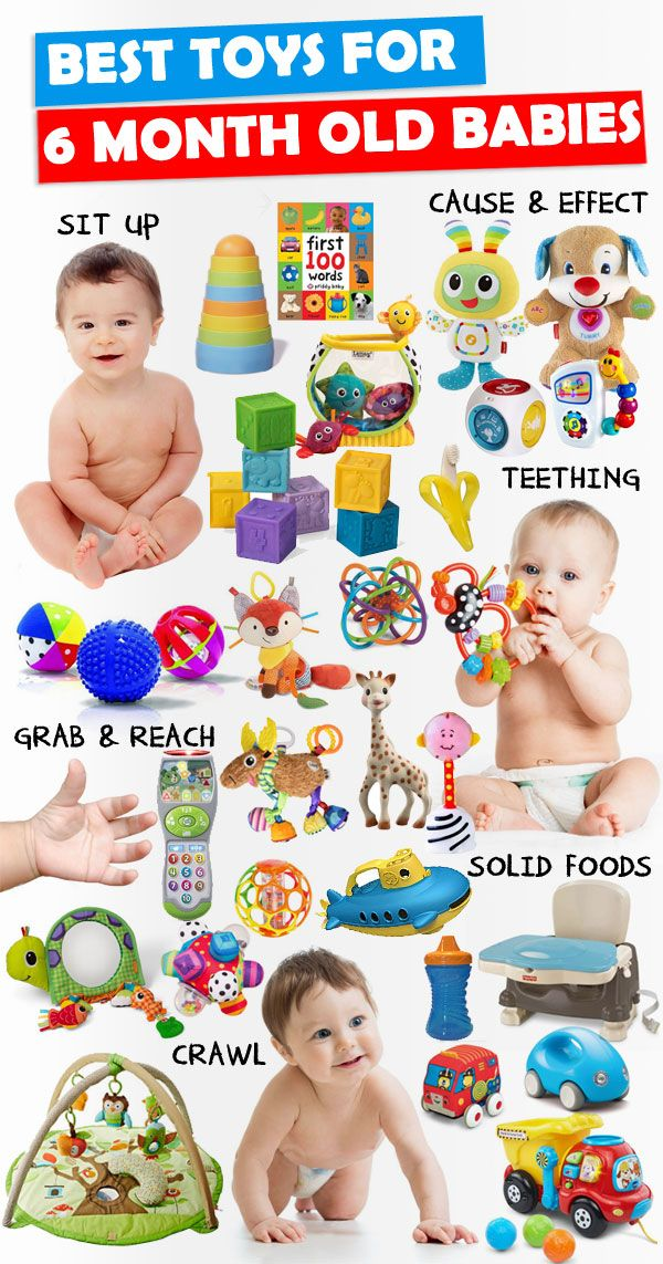 Parents, save this list! See the best toys for 6 month old babies that will help with baby's sensory development and milestones.