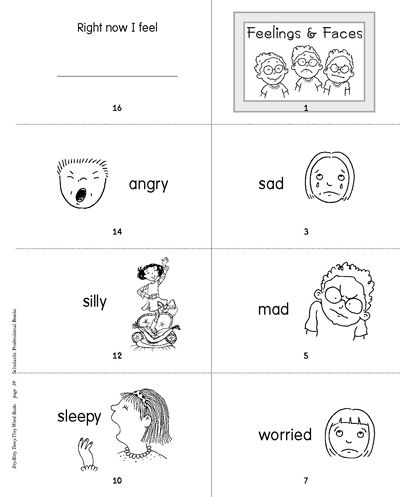 minibook feelings and faces for kids printables and teaching kids. Black Bedroom Furniture Sets. Home Design Ideas