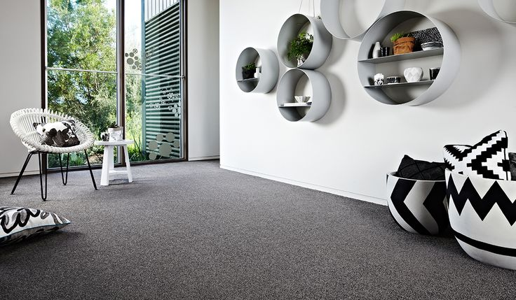 Feltex carpets | Redbookgreen | Get the look with Daybreak. #feltex #feltexcarpets #carpets #monochrome #redbookgreen #redbook #greycarpet #grey #gray
