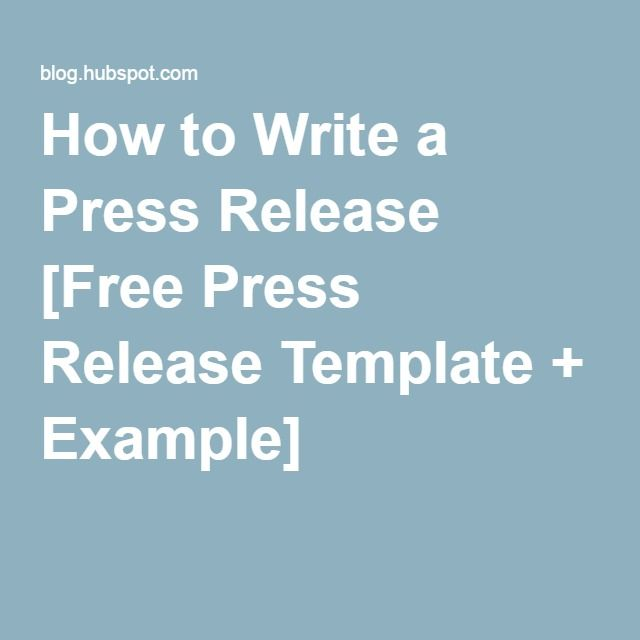 how to write the best press release