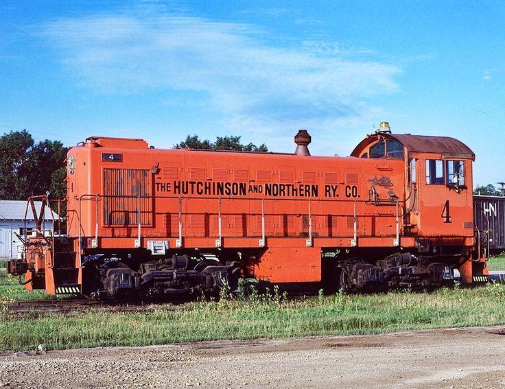 Hutchinson & Northern Railway, Alco S1 diesel-electric switcher locomotive in Hutchinson, Kansas, USA