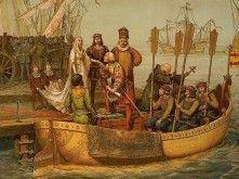 Columbus bij zijn vertrek uit Spanje, 1492